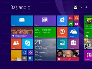 windows 8 başlangıç