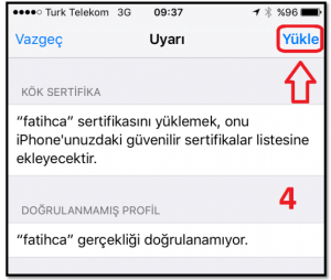 iOS Meb Sertifika 3